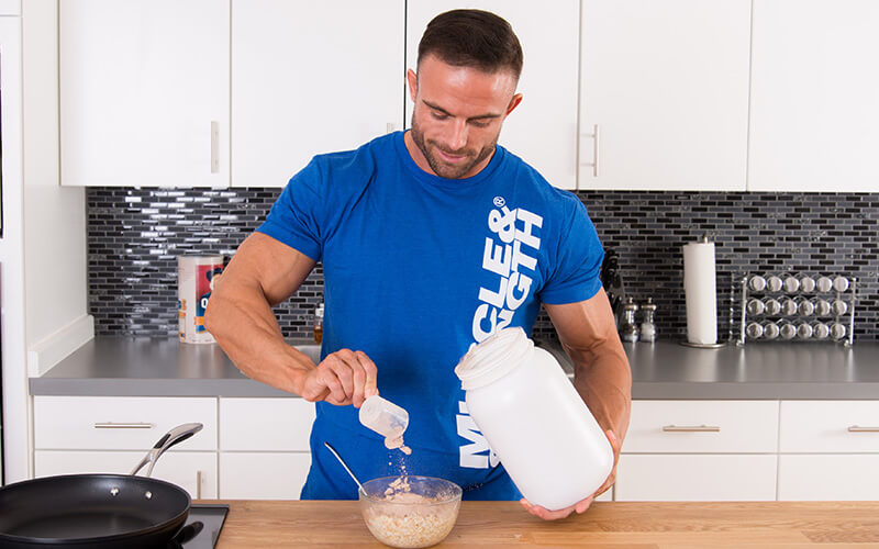 M&S Athlete Making Casein Protein and oats before bed