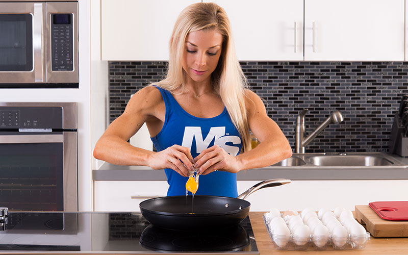 M&S Athlete Cracking Open an Egg for Fats
