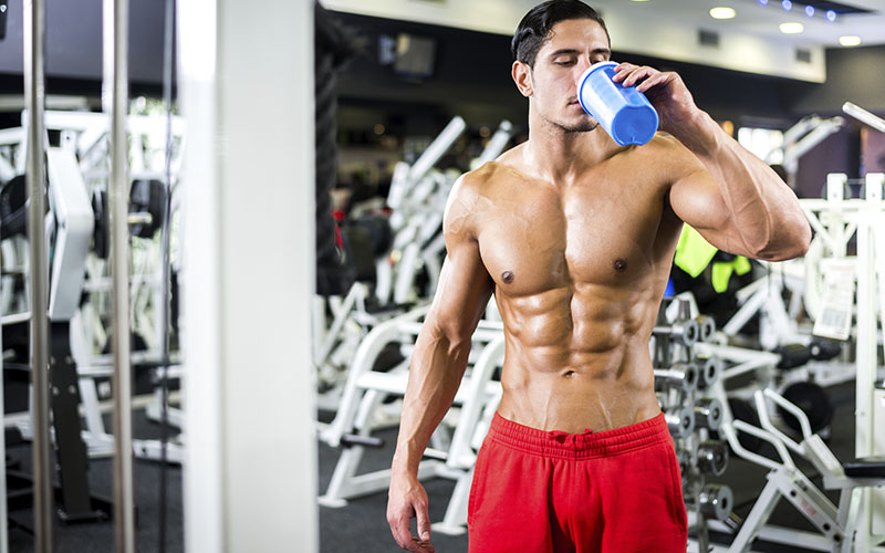 Athlete Drinking Supplements