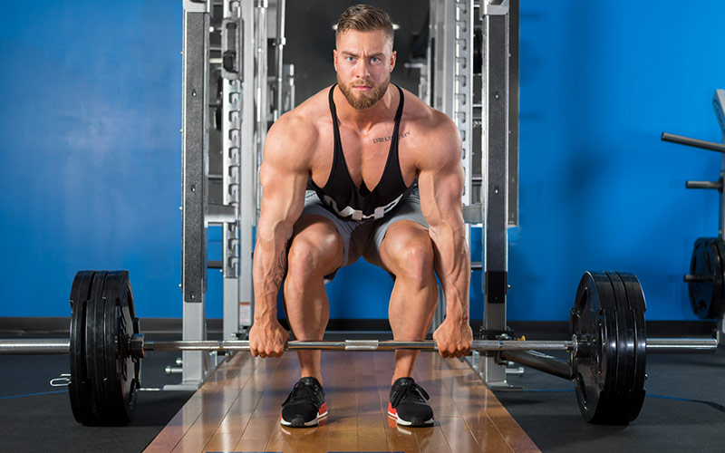 MHP Athlete Chris Bumstead Deadlifting during a deload