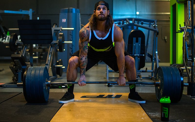 MusclePharm athlete performing deadlifts