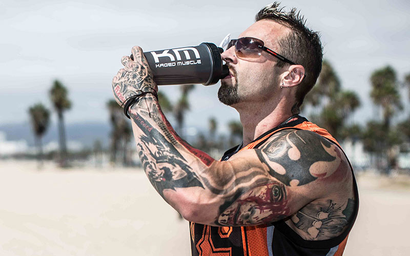 Kris Gethin Drinking Whey Protein Isolate