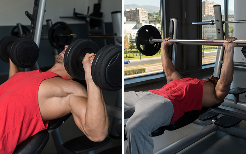 DumbBar Chest Superset