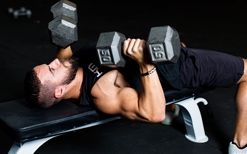 Dumbbell Bench Press with Rotation