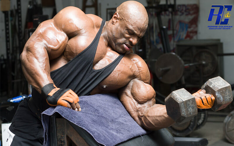 Ronnie Coleman Working Out His Biceps