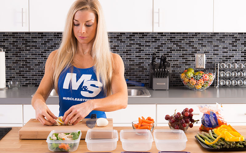 Athlete Eating More Protein and Veggies