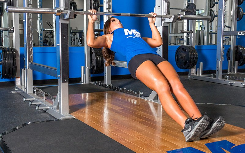 M&S Female Athlete Performing Inverted Rows