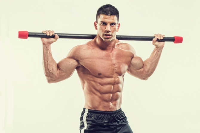 Ripped six pack abs