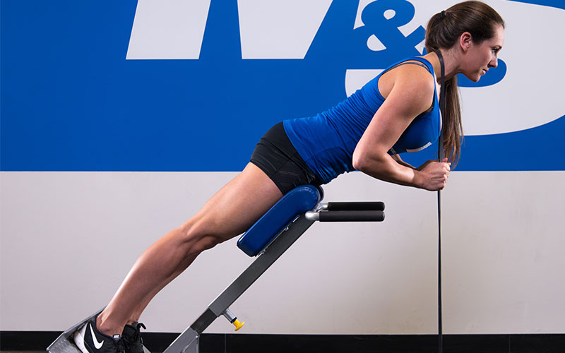 Athlete Training for Results doing Hyperextensions