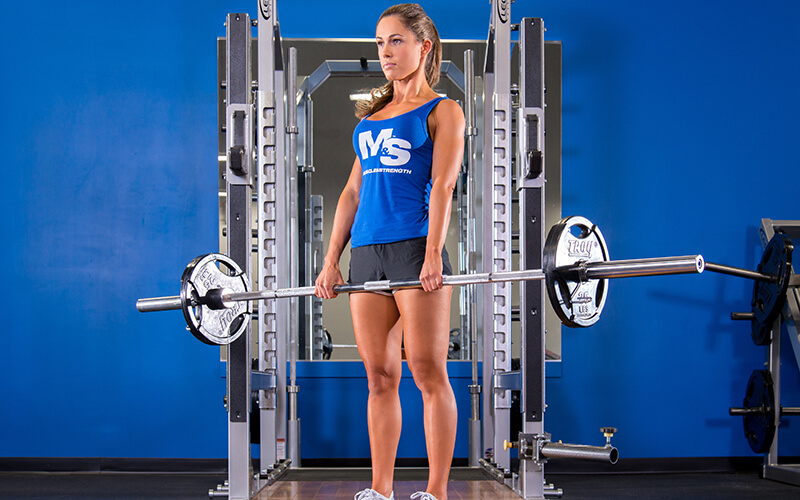 M&S Female Athlete Performing Deadlifts