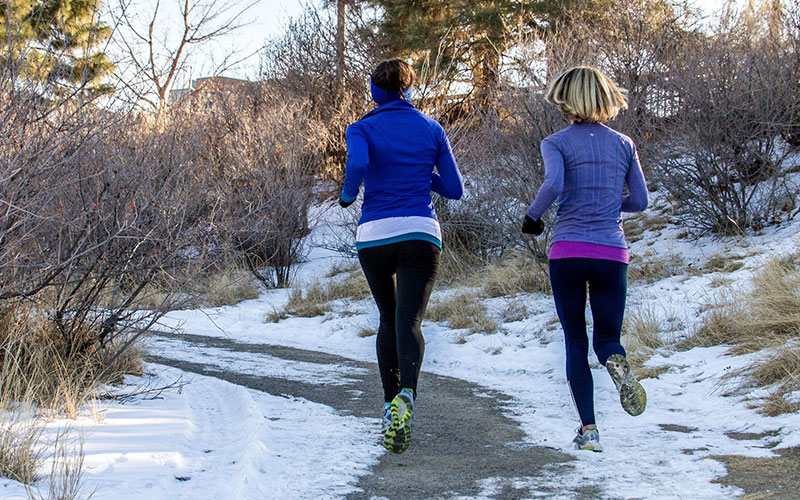 Female Joggers Embracing the Great Outdoors