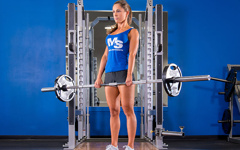Female Athlete Performing Barbell Complexes