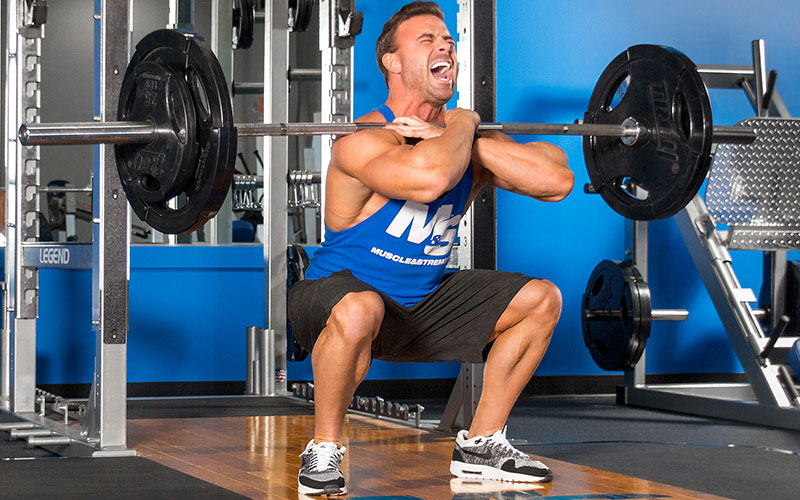 M&S Athlete Performing Paused Front Squats