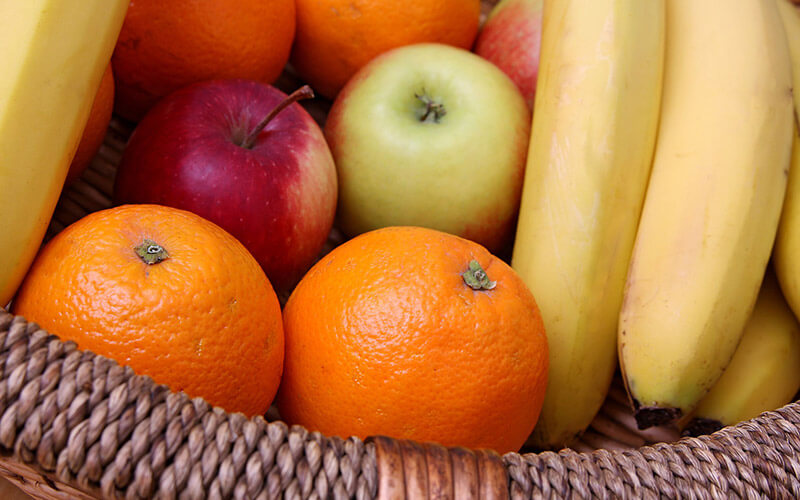 Fruit is the perfect snack for carbs and vitamins
