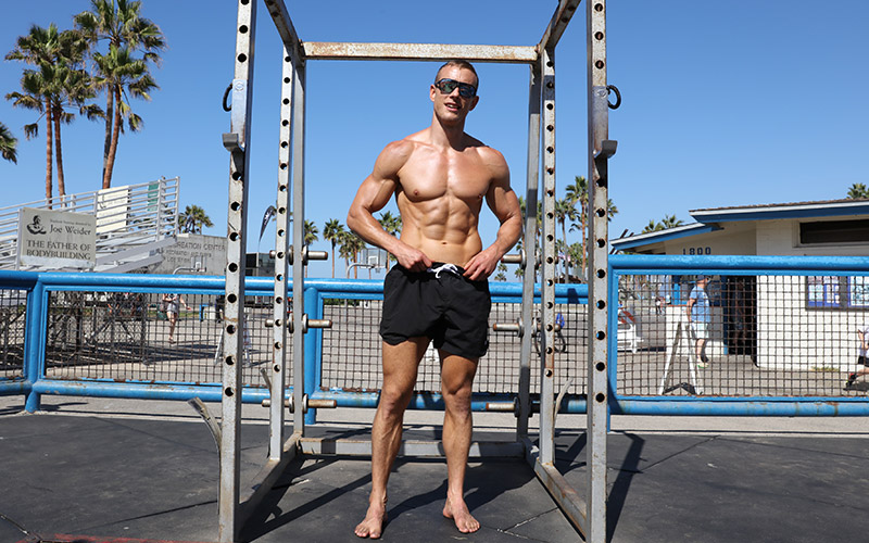 Coach Myers at Venice Beach Golds