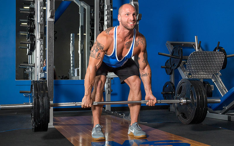 M&S Athlete Performing a Heavy Deadlift