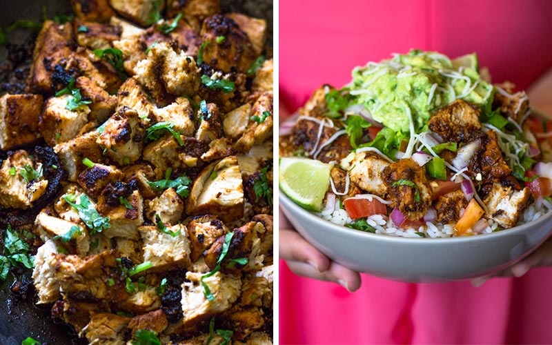 43 best high protein recipes that anyone can cook easy high protein lunches qdoba style chicken forumfinder Images