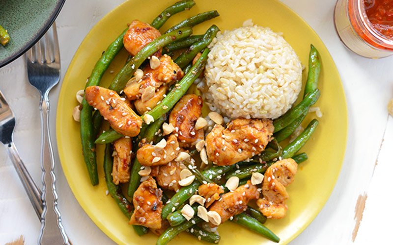 Healthy High Protein Dinners - Kung Pao Chicken