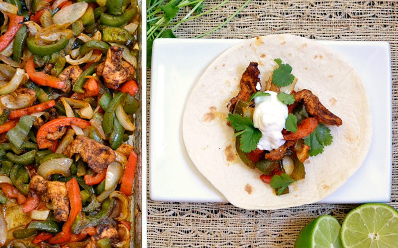 Healthy High Protein Dinners - Easy Oven Fajitas