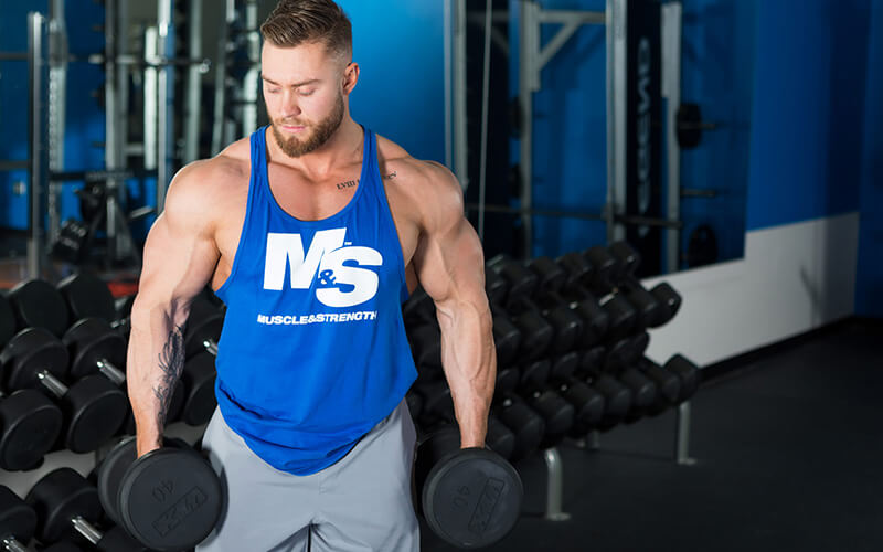 M&S Athlete Holding Dumbbells