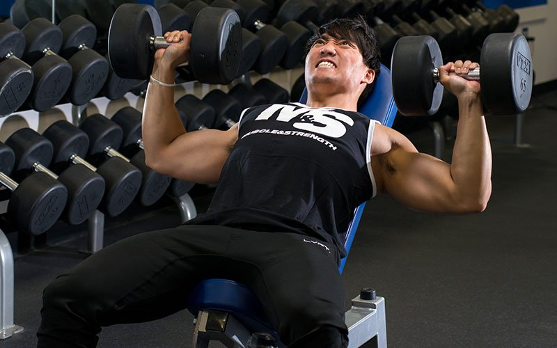 Full Body Workout Incline Dumbbell Press