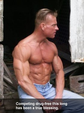 Natural Bodybuilder Larry Burt