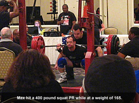 Max Misch 400 Pound Squat