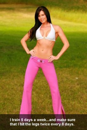 Nadine Dumas Training Split
