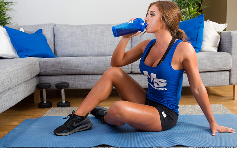 Drinking Intraworkout Supplements From Blender Bottle