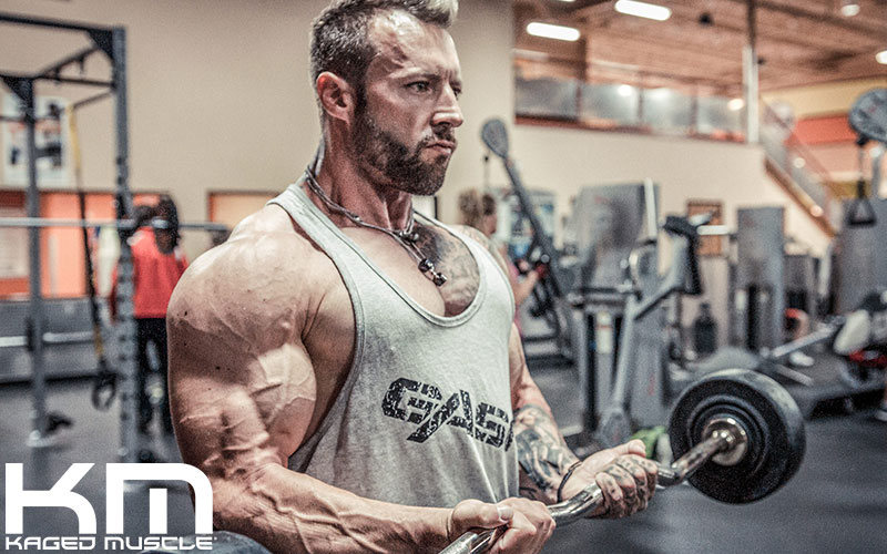 Kris Gethin Performing EZ Bar Curls