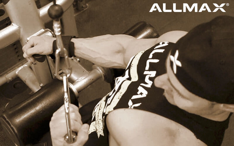 Team Allmax Athlete Andre Performing Narrow Unilateral Lat Pulldowns