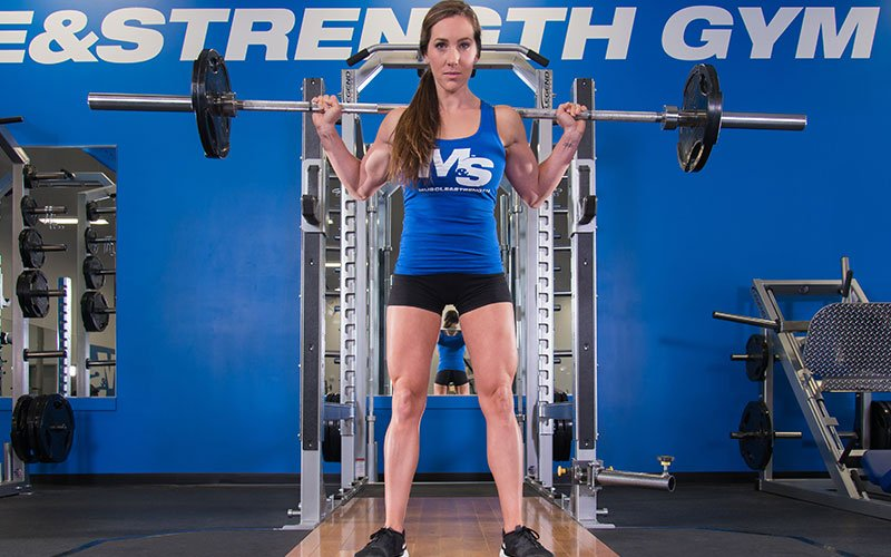 Leg Training for Women: Heavy back squats