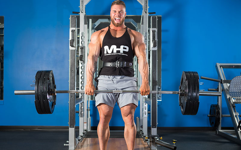 MHP Chris Bumstead Athlete Performing Heavy Deadlifts