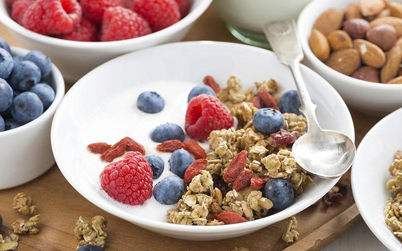 Greek Yogurt, Fruit and Nuts