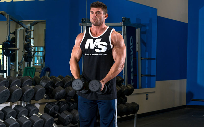 M&S Athlete Performing Drop Sets and Partials