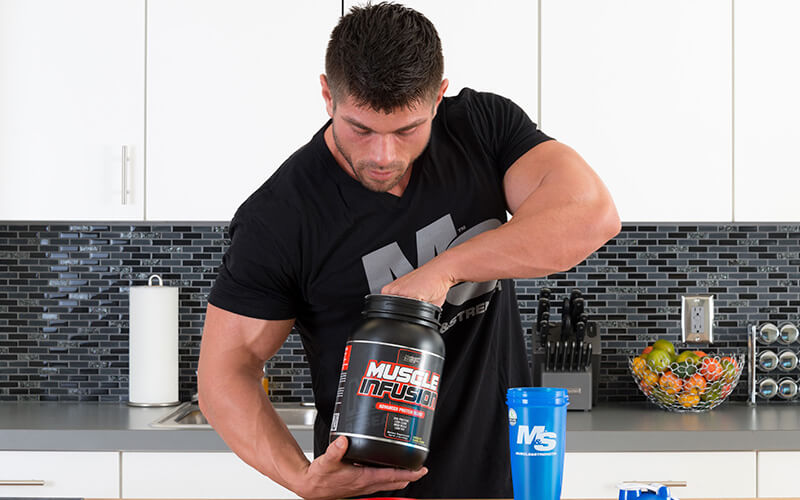 M&S Athlete Making a Protein Shake with Nutrex Protein