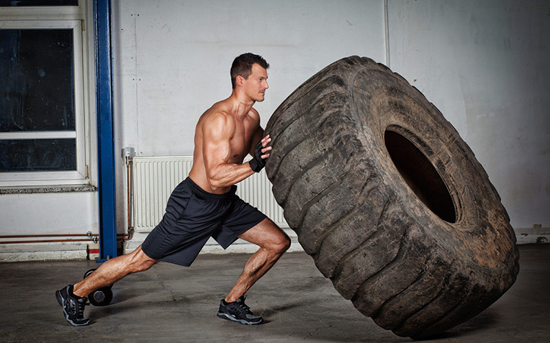 Power Hour Cardio Workout: Tire Flips