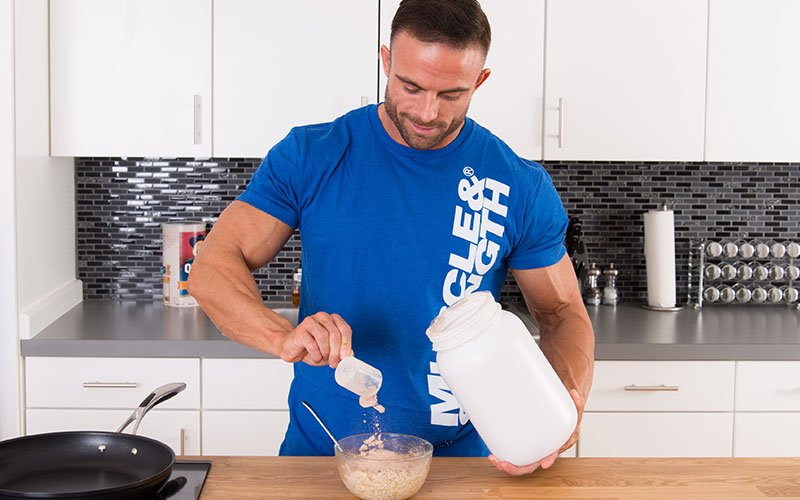 Athlete Eating Protein Oats