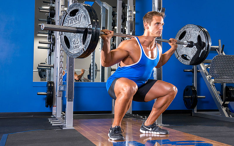 Protein Guide Man Squatting