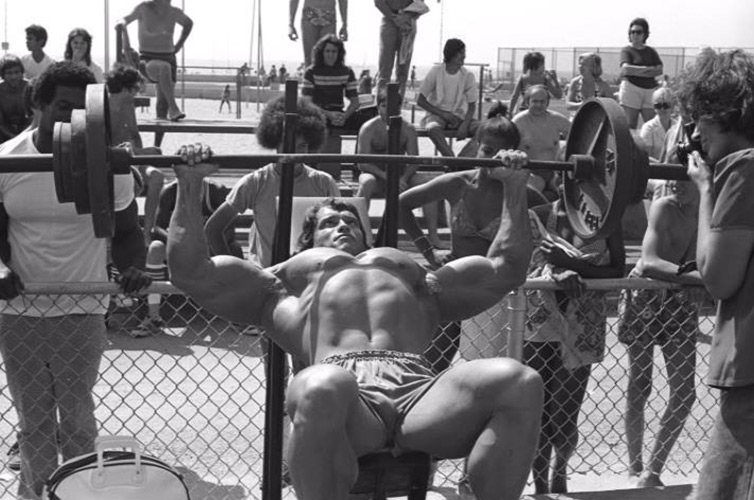 Arnold at Muscle Beach