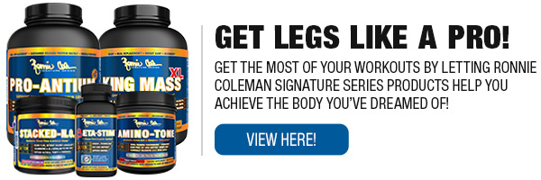 Ronnie Coleman Signature Series Complete Product Line