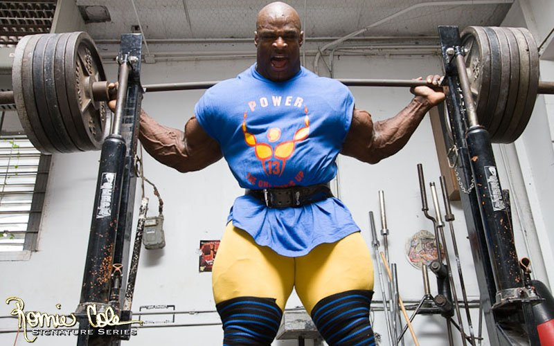 Ronnie Coleman Exercising And Attempting Heavy Squat