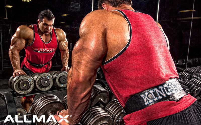 ALLMAX athlete performing run the rack rows