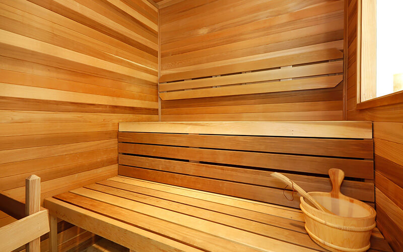 Sauna can help with injury rehab