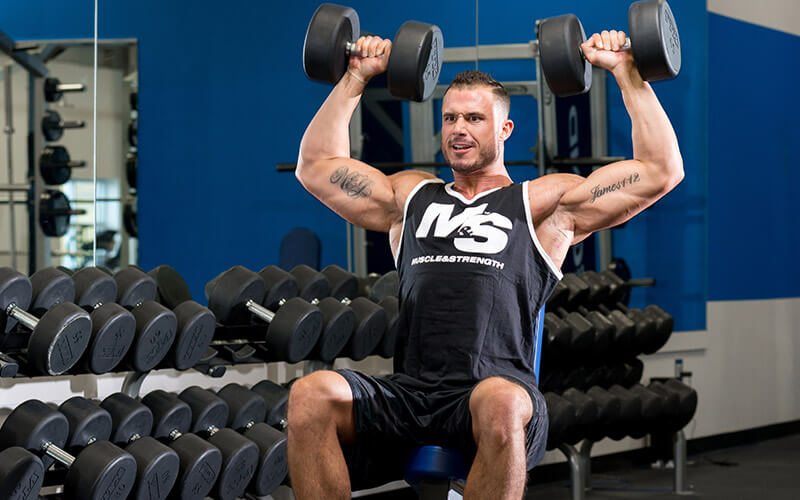 M&S Athlete performing a compound lift that will require a rest period