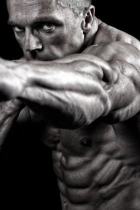 Shredded MMA Fighter