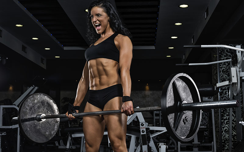 Female Athlete Deadlifting
