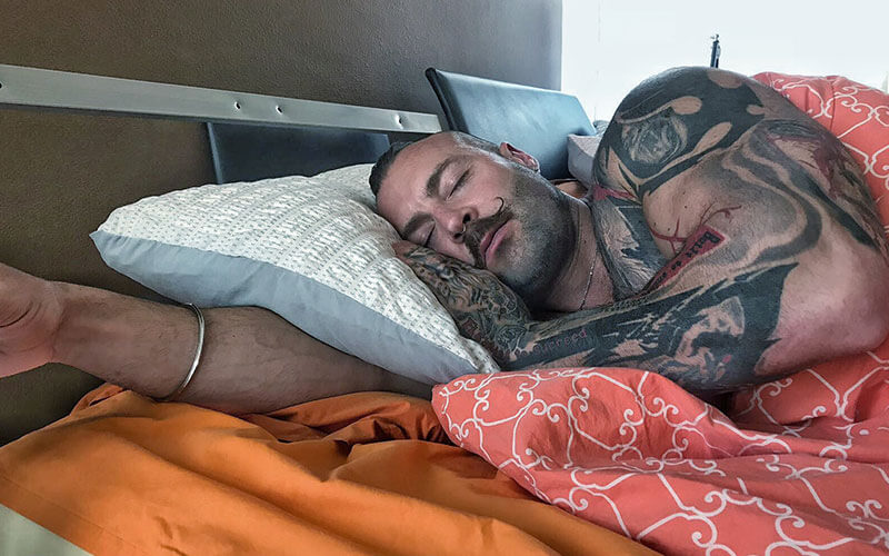 Kaged Muscle CEO Kris Gethin Sleeping