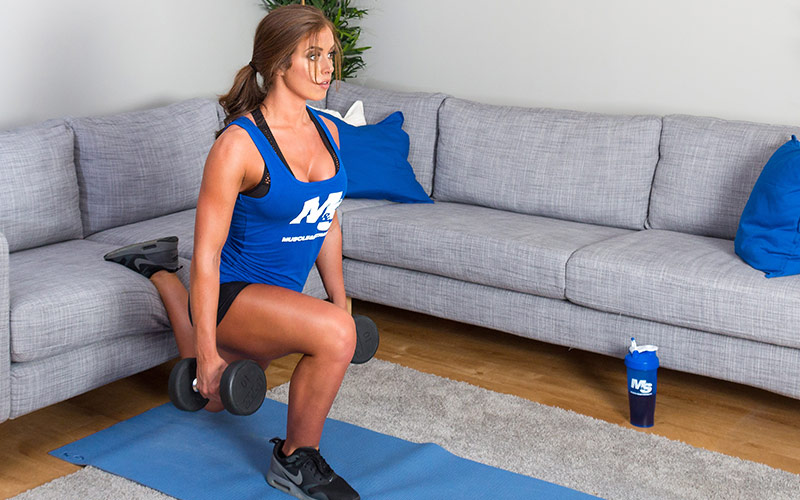Female Athlete Doing Split Squats
