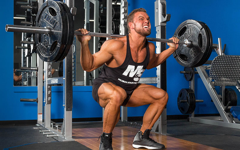 Athlete Creating Inflammation by Lifting Weight